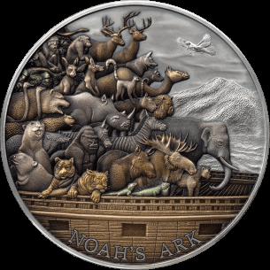 NOAH ARK 5 Oz Silver Coin...
