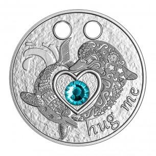 HUG ME DOLPHINS Silver Coin...
