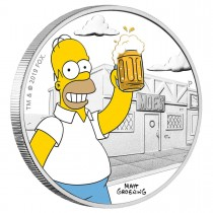 TUVALU $1 Dollar 2019 Homer...
