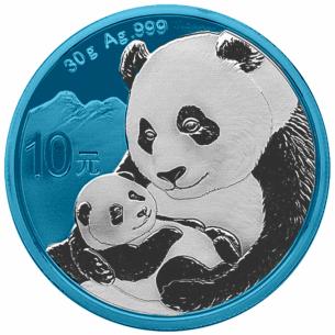10 Yuan Panda SPACE BLUE...