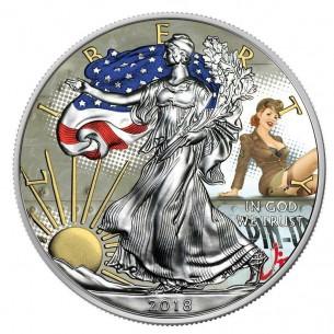 PIN UP WINGS USA 2018 1$...