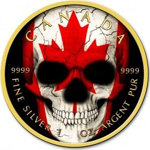 CANADIAN FLAG SKULL 1 Oz...