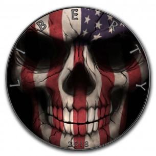 AMERICAN FLAG SKULL 1 Oz...