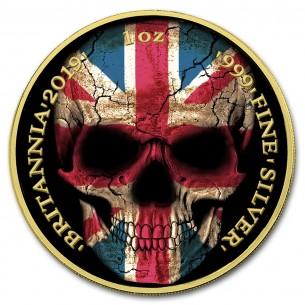 BRITANNIA FLAG SKULL 1 Oz...