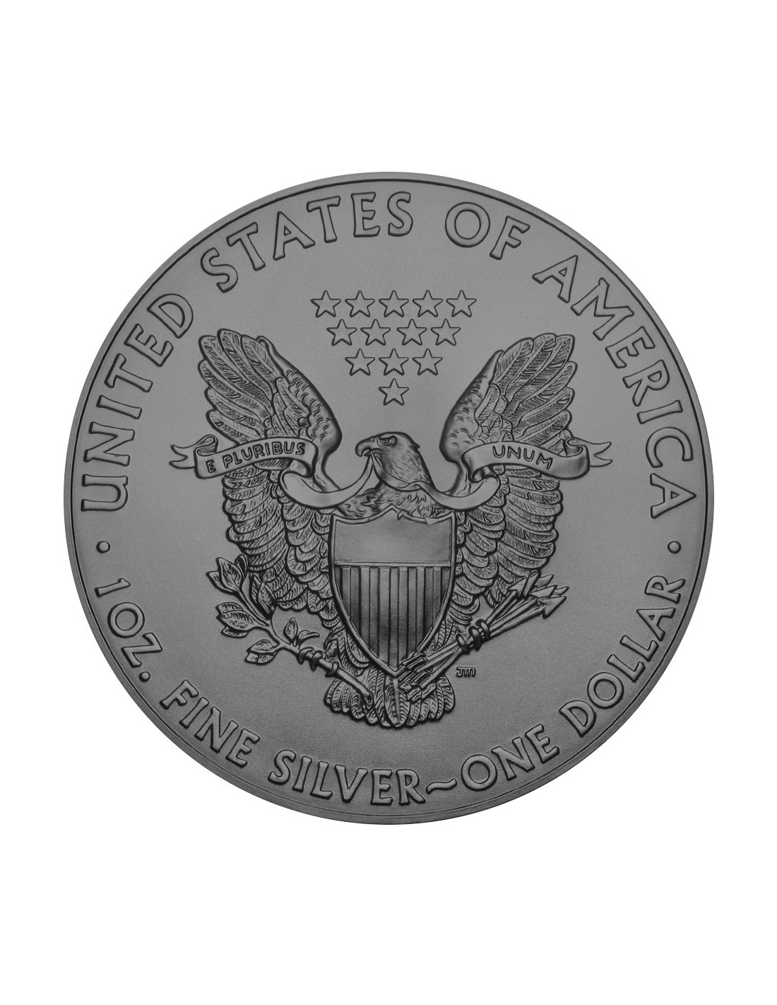 Us Flag 1 Oz Silver Ruthenium Plated