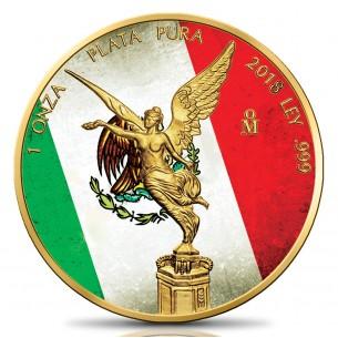 MEXICAN FLAG 1 Oz Silver &...