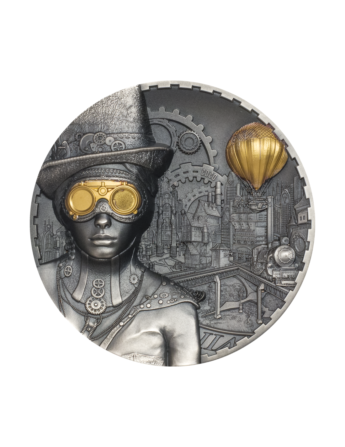 Steampunk 3 Oz Silver Coin 20 Cook Islands 2020