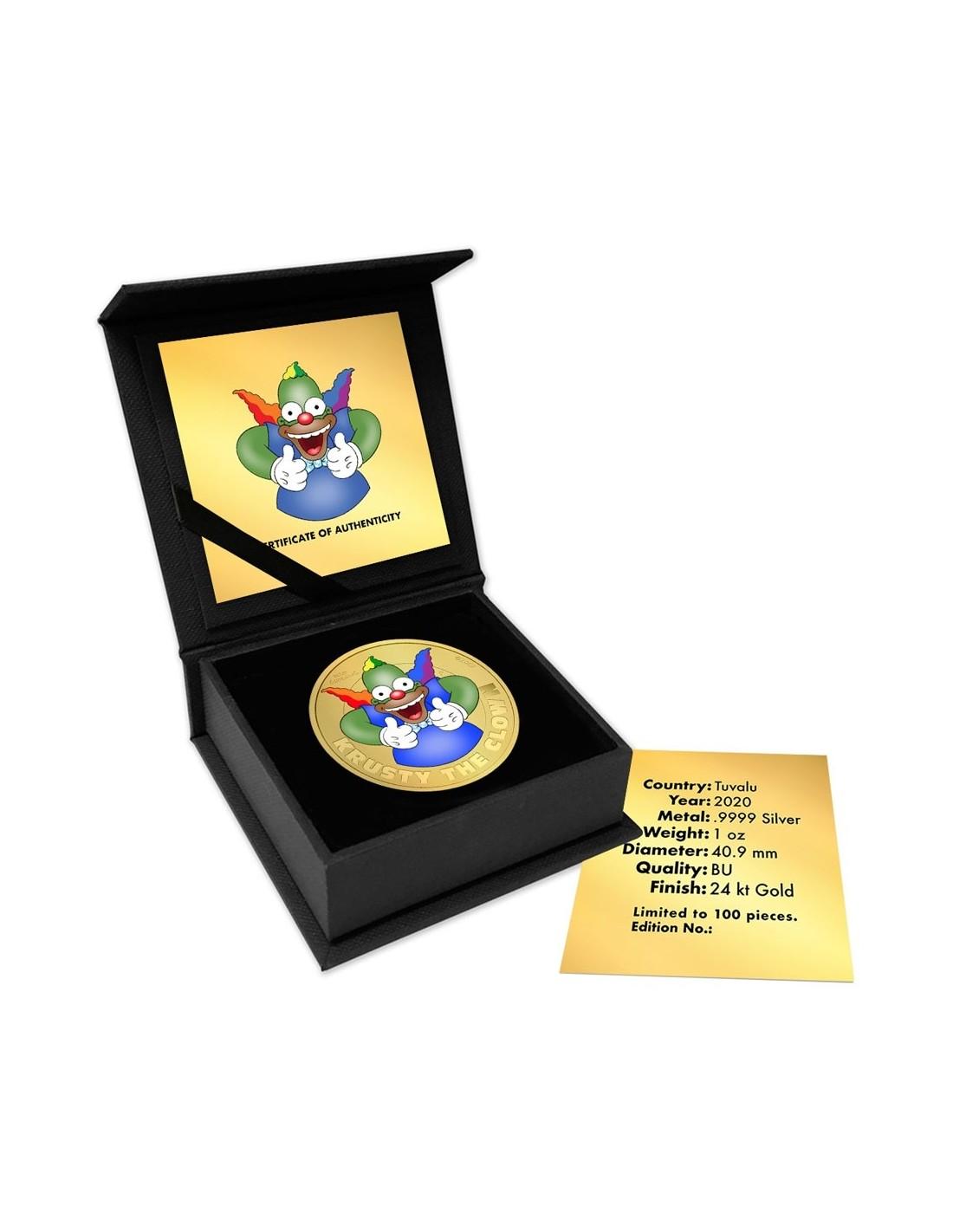 2020 Simpsons Krusty the Clown $1 1oz .9999 Silver COIN NGC MS69 FR Simpson