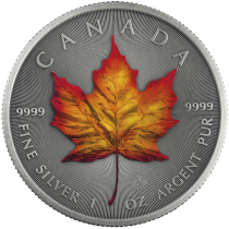 Colorized Series! 2020 Canada Maple Leaf 4 Seasons Yellow 1 Ounce Silver