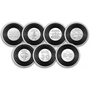 AC/DC Set 7 Coins 20 Cents...