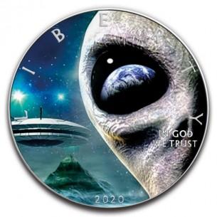 ALIEN UFO - 1 Oz Silver...
