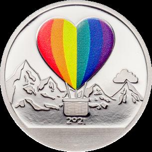 LOVE Globes Silver Coin 1$...