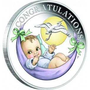 NEWBORN BABY Silver Coin 50...