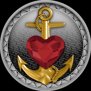 FAITH HOPE LOVE Silver Coin...