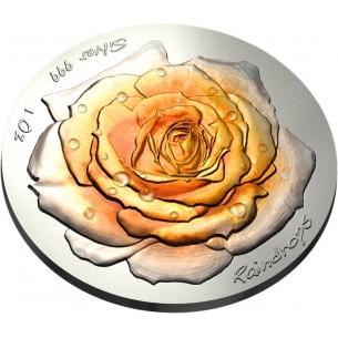 ROSE Raindrops Silver Coin...